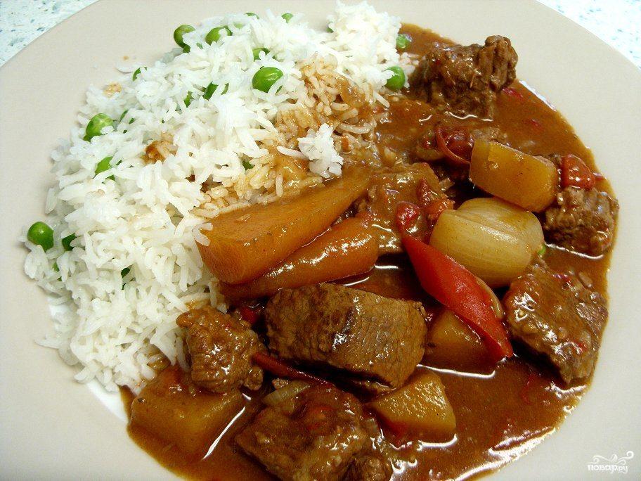 Рецепт Гуляш с рисом