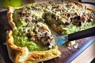 Пирог с брокколи и вешенками