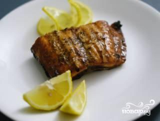Филе лосося на решетке