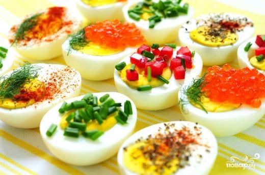 Рецепт Праздничная закуска из яиц
