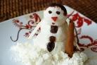 Снеговик из творога