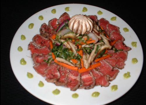 Карпаччо с салатом Шиитаке - фото шаг 5