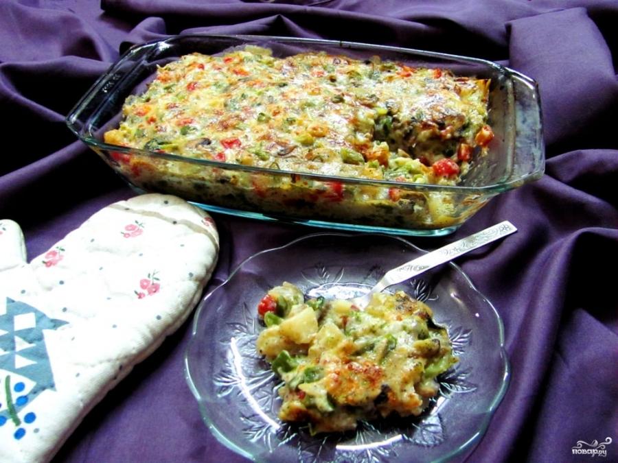 Овощи в духовке под сыром - фото шаг 4