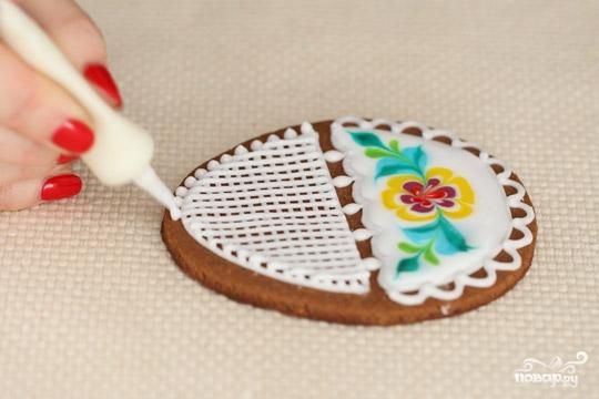 Пасхальные печенья с глазурью - фото шаг 6