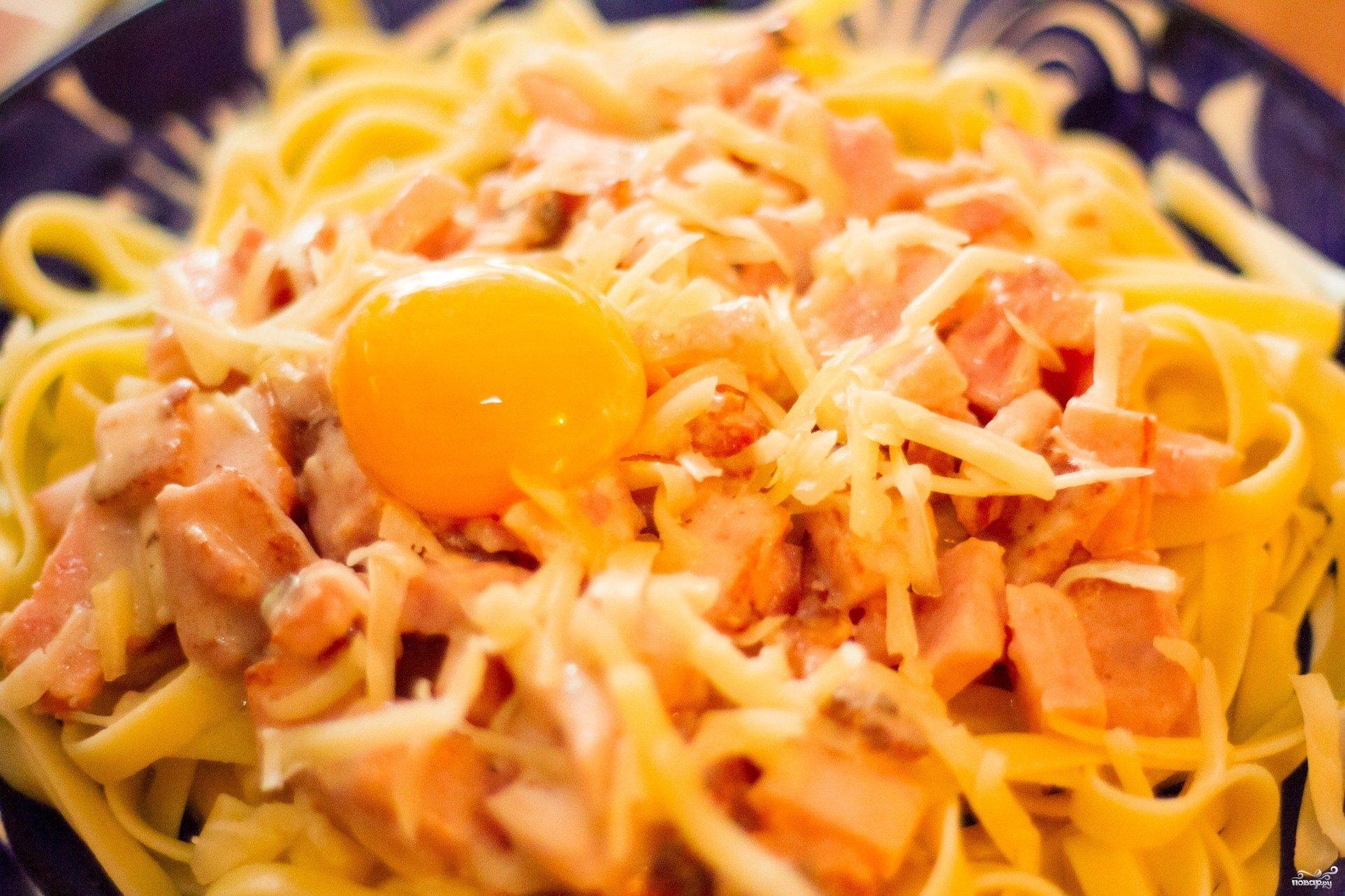 Карбонара паста пошаговый рецепт