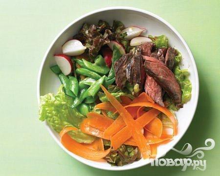 Рецепт Салат из говядины с фасолью