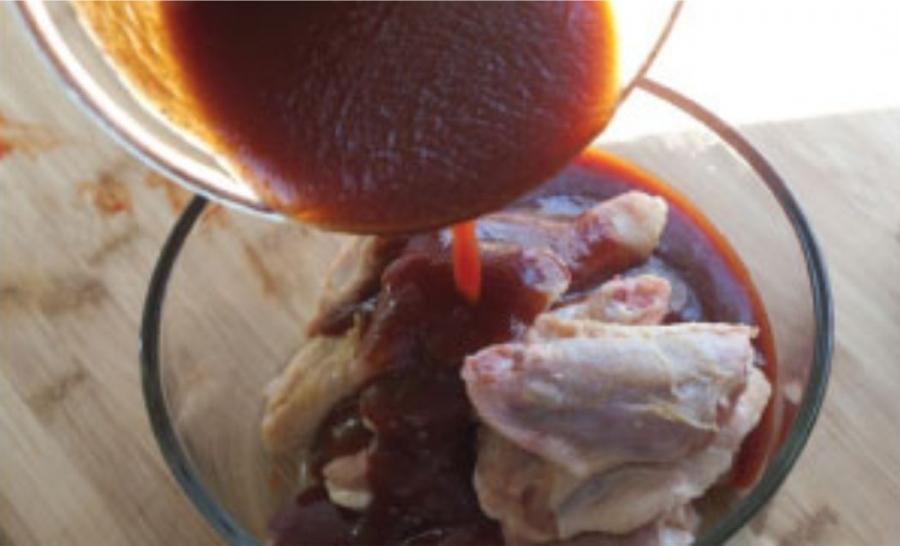 Курица под соусом - фото шаг 5