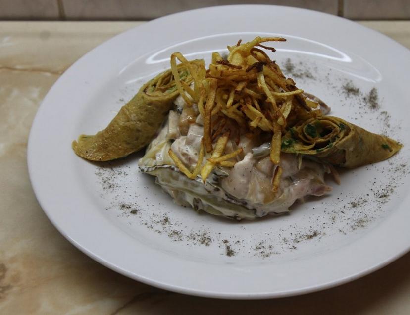 Картошка с копченой курицей - фото шаг 4