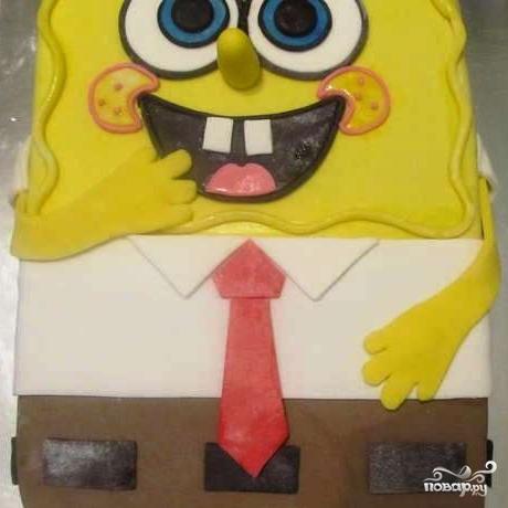 """Торт """"Губка Боб"""""""