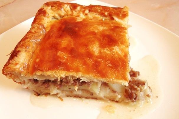 Картофельный пирог с мясом - фото шаг 7
