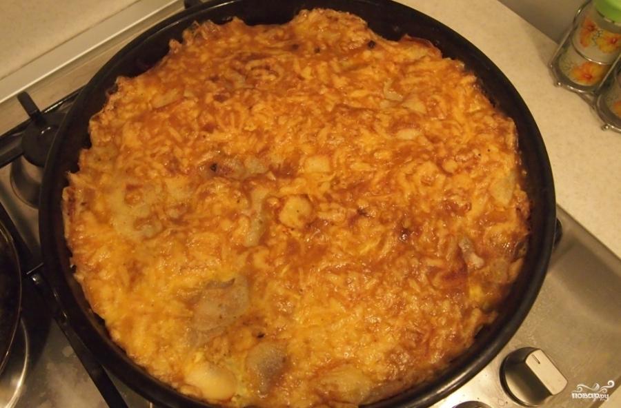 Индейка, запеченная с картофелем под сыром - фото шаг 6