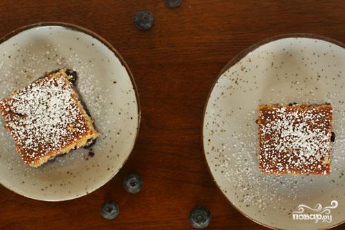 Пирог с черникой и коричневым сахаром - фото шаг 3