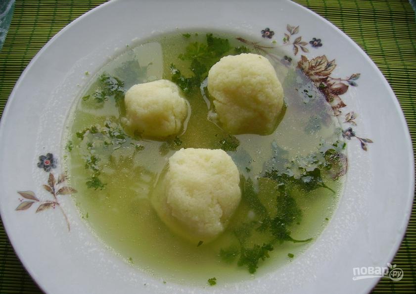 клецки для супа пошаговый рецепт