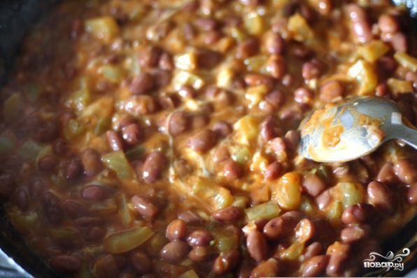 Кесадилья с фасолью и сыром - фото шаг 3