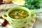 Постный грибной суп из шампиньонов
