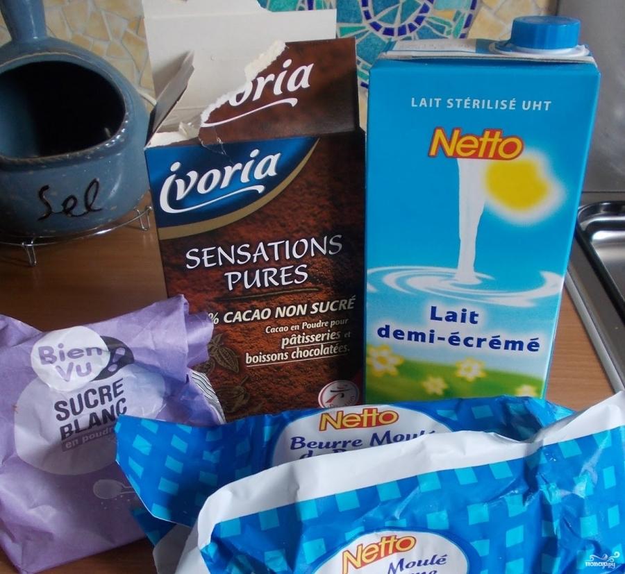 Шоколадная глазурь из какао и молока - фото шаг 1