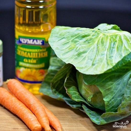 Рецепт Капустный салат с морковью