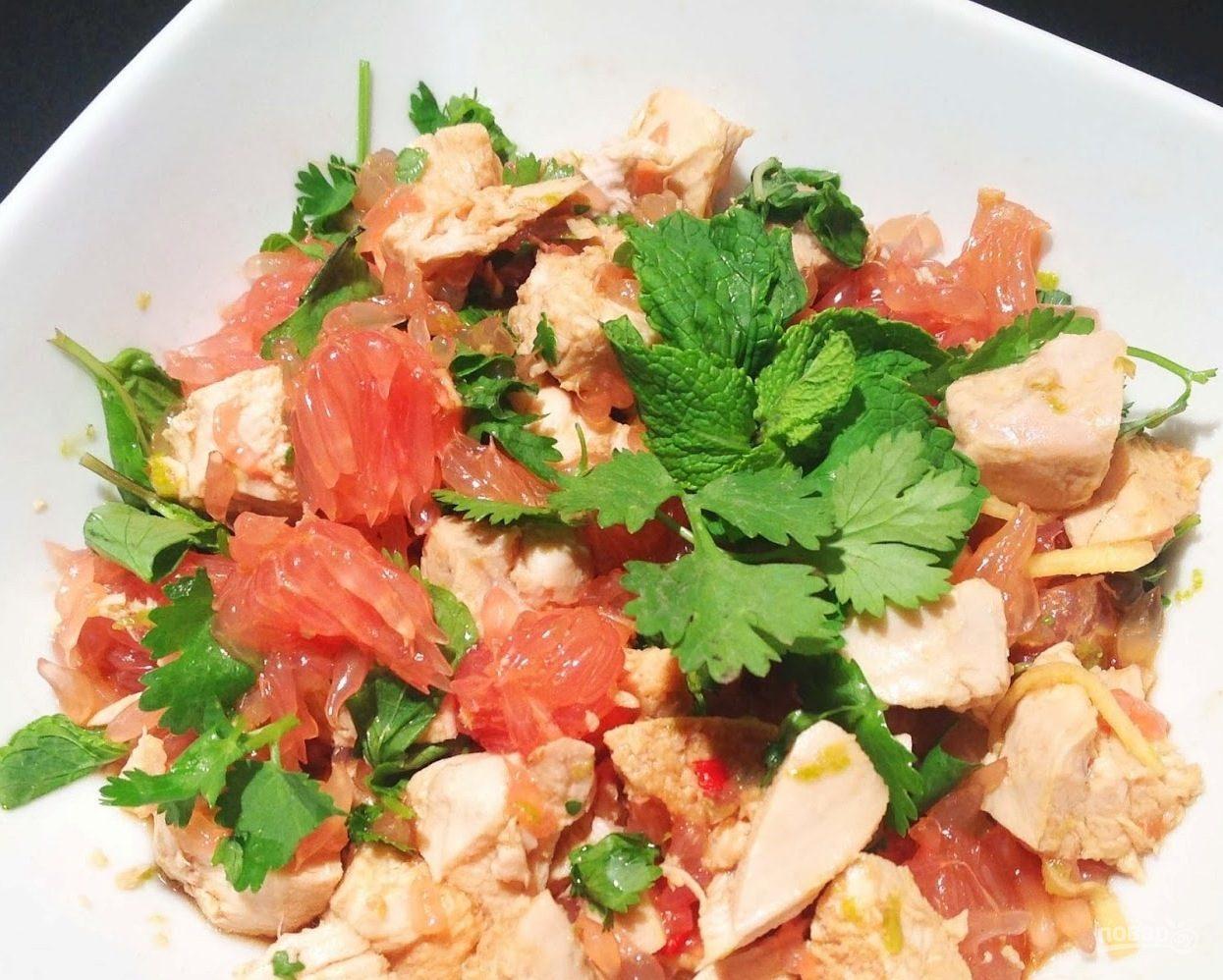 Рецепты салатов с куринным филе