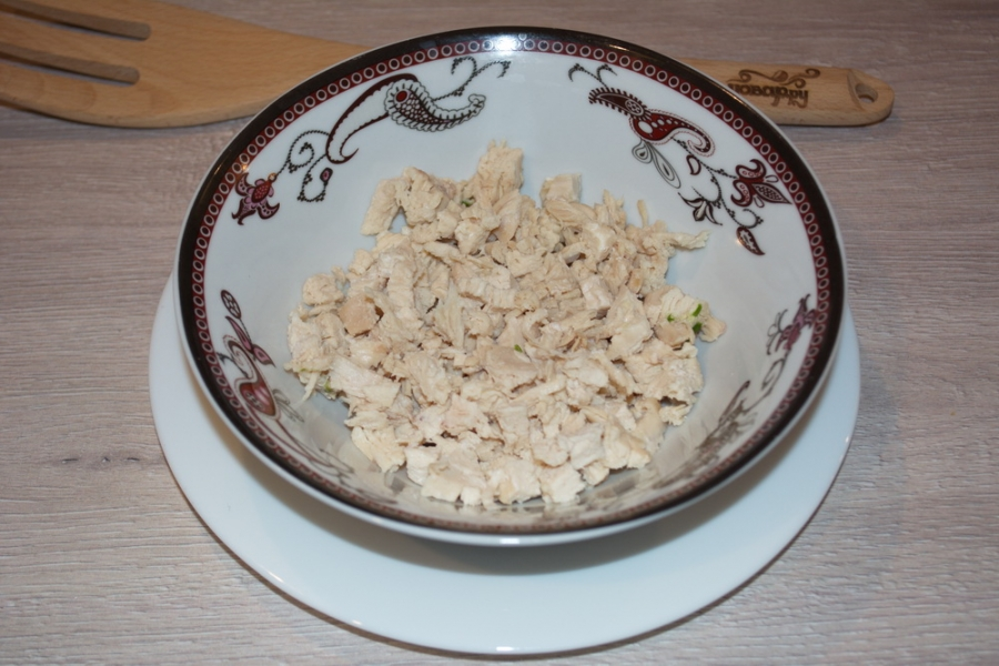 Салат в виде арбуза - фото шаг 1