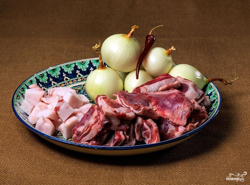 Рецепт Бараньи ребрышки в казане