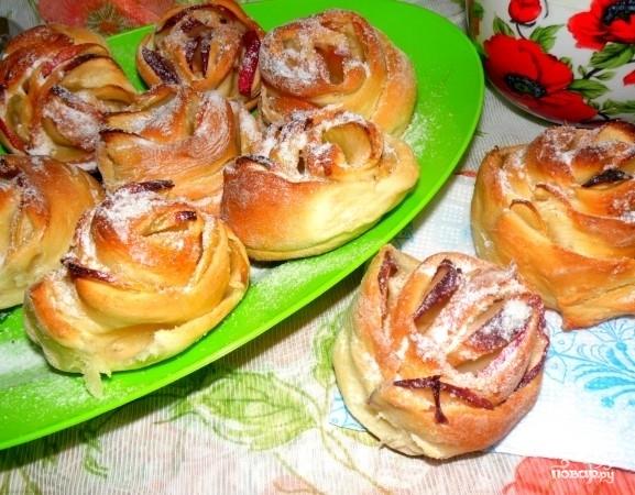 Яблочные булочки - фото шаг 6