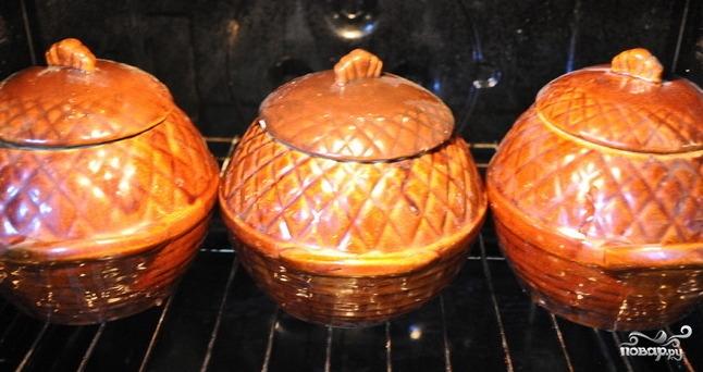 Перловка с грибами в горшочке - фото шаг 5