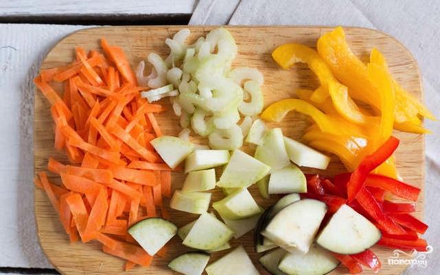 Лапша с овощами - фото шаг 2