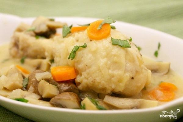 Рецепт Куриные голени в сметане