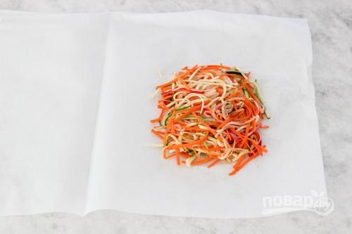 Рыба в духовке с овощами - фото шаг 5
