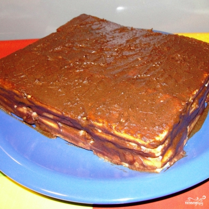 Торт без выпечки из печенья - фото шаг 5