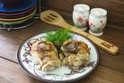 Окорочка с грибами в духовке