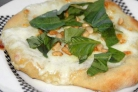 Пицца с сыром Моцарелла и кедровыми орешками