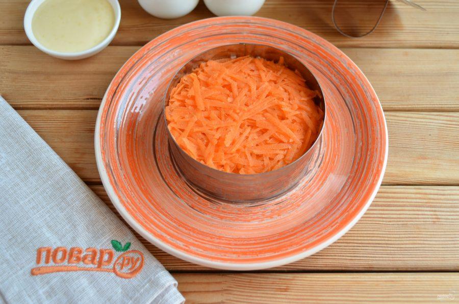 Слоеный салат из редьки