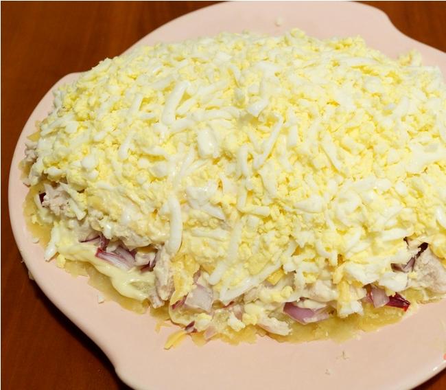 Рецепт салата в виде ананаса с фото