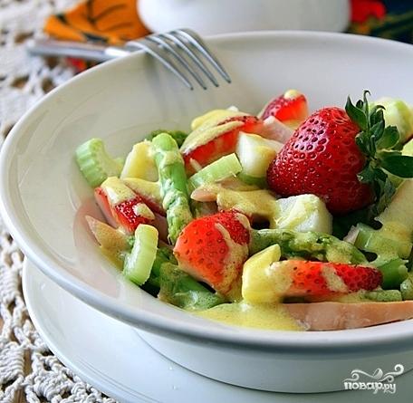 Салат из спаржи и курицы - фото шаг 9