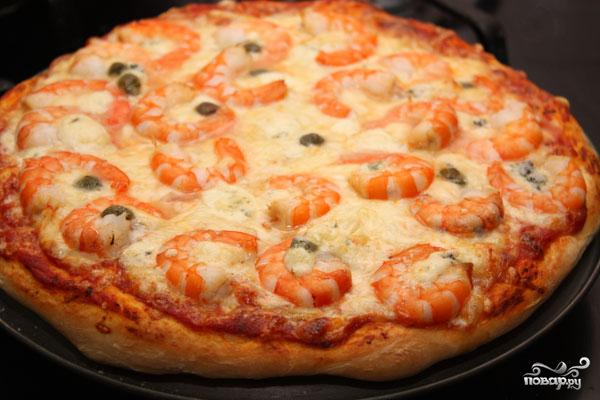 Пицца с креветками - фото шаг 6