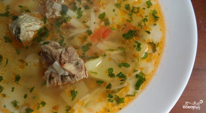 Суп с вермишелью и картошкой