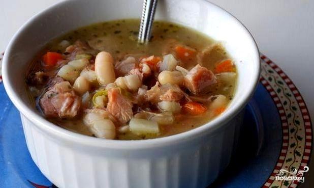 Суп фасолевый с говядиной