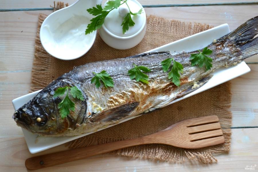 Рыба, запеченная под соусом в духовке - фото шаг 6