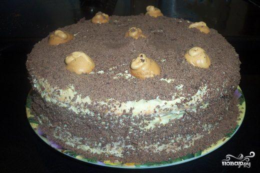 Бисквитный торт с коньяком