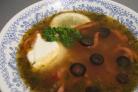 Солянка с сосиской и картошкой