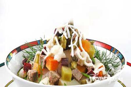Рецепт Винегрет с мясом