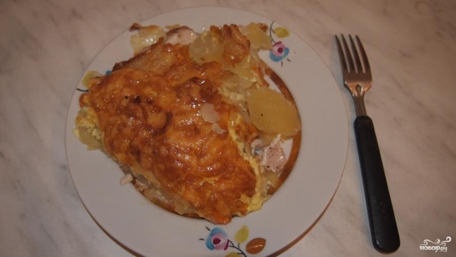 Индейка, запеченная с картофелем под сыром - фото шаг 7