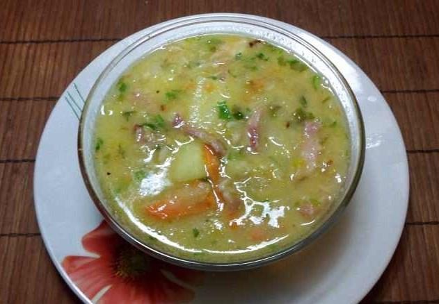 Суп с салом - фото шаг 6