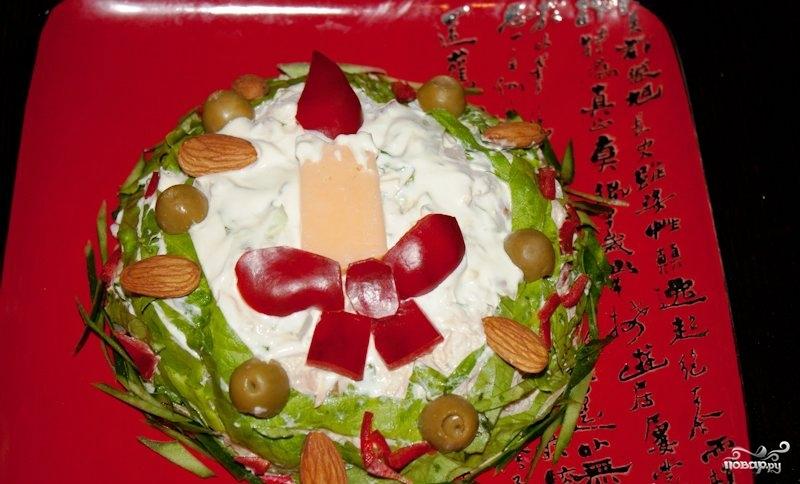 """Салат """"Новогодняя свеча"""""""