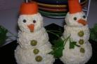 Закуска Снеговики из сыра