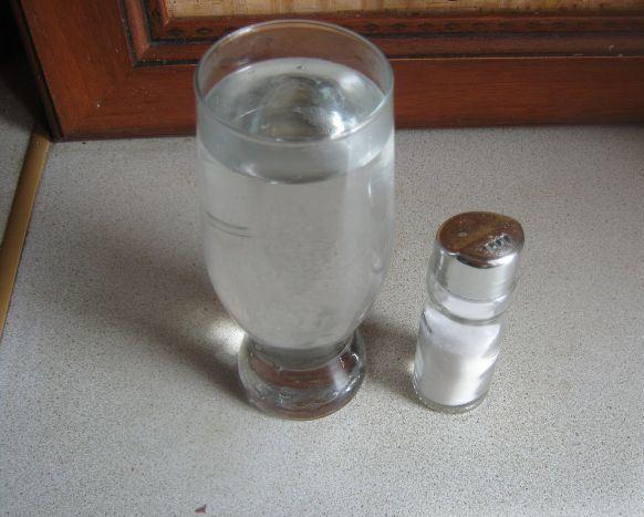 Тесто на воде без дрожжей - фото шаг 1