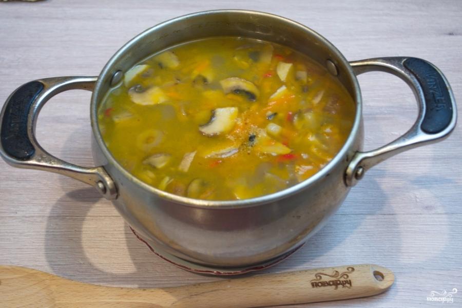 Суп на грибном бульоне - фото шаг 7