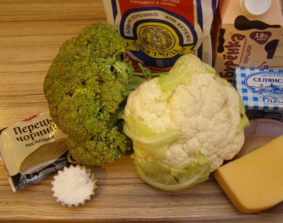 Рецепт Цветная капуста и брокколи, запеченные в духовке