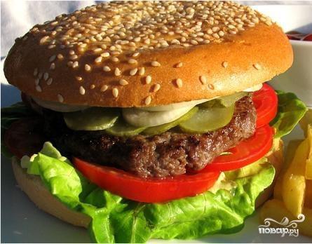 как приготовить гамбургер с котлетой в домашних условиях